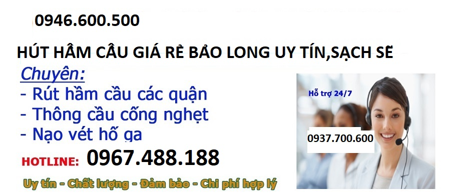 HÚT HẦM CẦU ĐƯỜNG TÂN KỲ TÂN QUÝ  QUẬN TÂN PHÚ 0919.600.500
