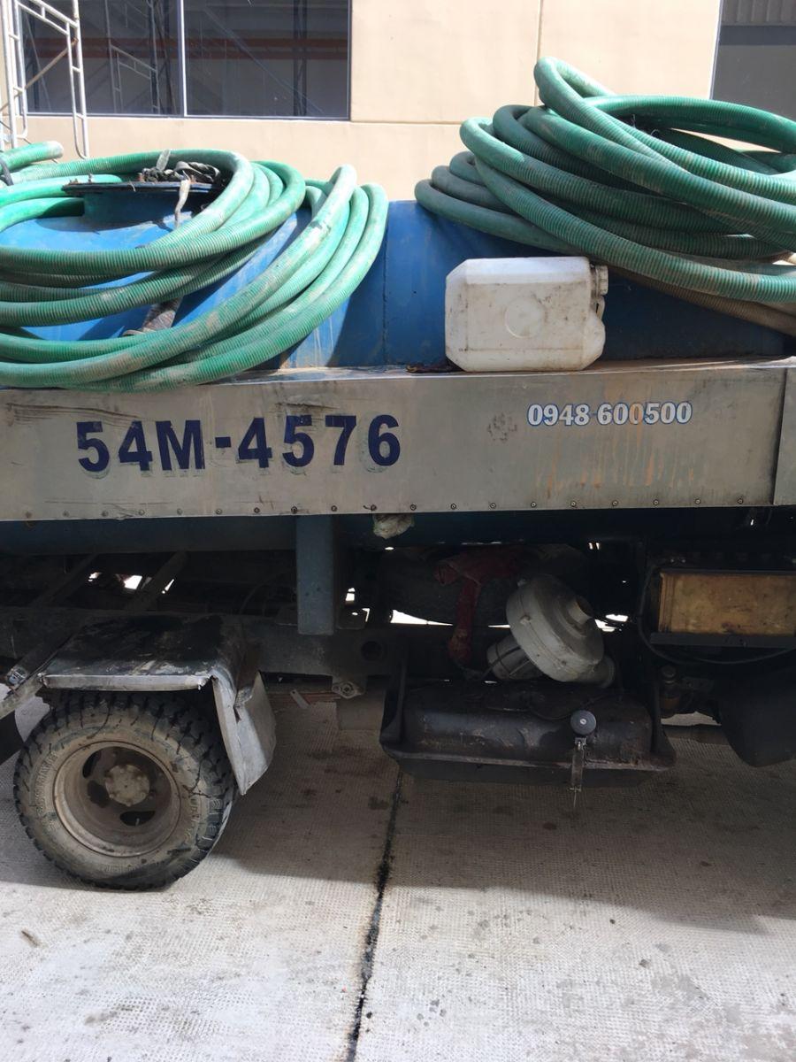 Máy thông cống Nghẹt sử dụng tại Củ Chi